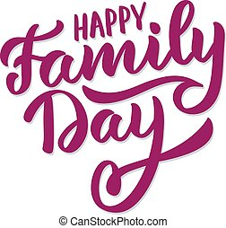 A Beautiful card of Happy family day
