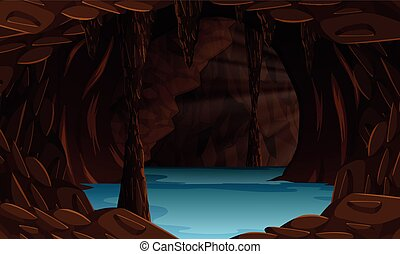 A beautiful cave landscape