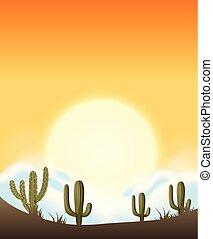 A beautiful desert template