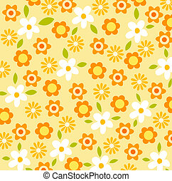 a beautiful drawing of flower pattern background
