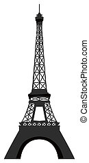 eiffel tower - a beautiful drawing of the famous eiffel...