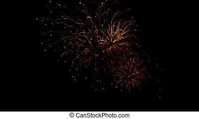 A beautiful fireworks display on New Years Eve