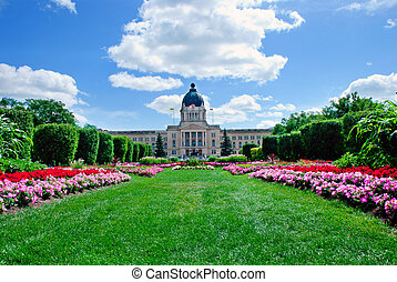 Legislature - A beautiful flowerbed in front of Legislature...