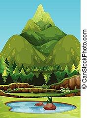 A beautiful green mountain
