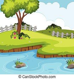 A beautiful green nature landscape