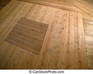 A beautiful hardwood classical floor