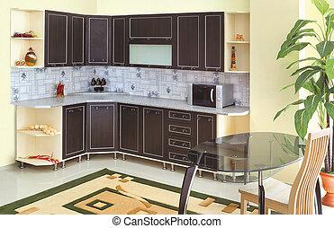 A beautiful interior of a custom kitchen