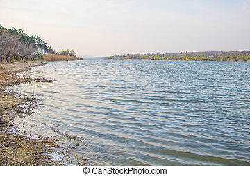 A beautiful lake in the spring Landscape