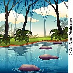 A beautiful lake landscape
