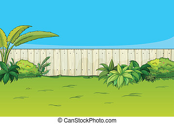 A beautiful landscape - Illustration of a beautiful...