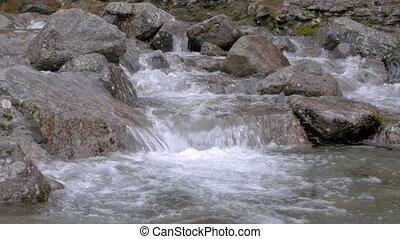 A beautiful mountain river