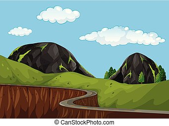 A beautiful mountain road