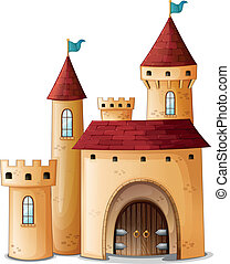 Illustration of a beautiful palace on a white background
