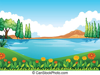 A beautiful pic of nature - Illustration of a beautiful pic...
