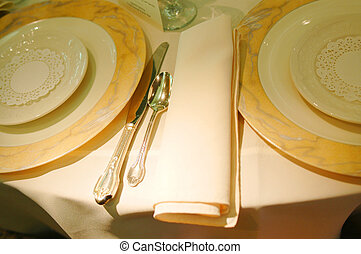 a beautiful place setting for a sumptuous feast