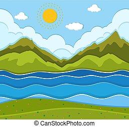 A beautiful river landscape