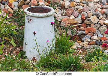 Rock garden - A beautiful Rock garden with flowers in bloom