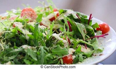 a beautiful salad close up