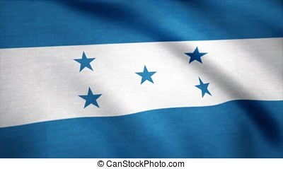 A beautiful satin finish looping flag animation of Honduras....