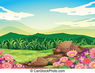 Illustration of a beautful scenery