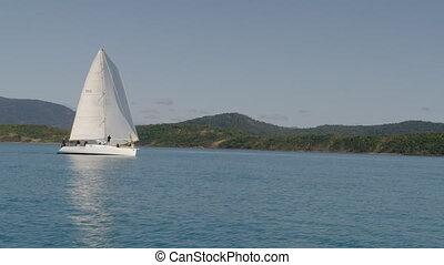 A beautiful shot of a sailboat