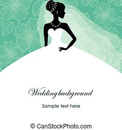 A beautiful silhouette of a bride