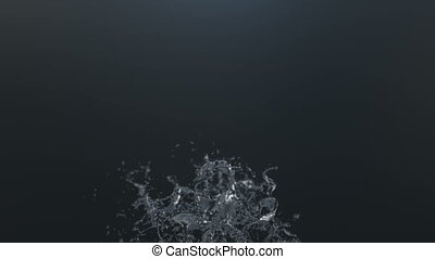 A beautiful splash of water, Slow motion. 3d rendering.