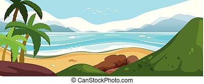 A beautiful summer seascape