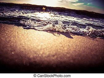 A beautiful sunny waves at the Baltic sea beach