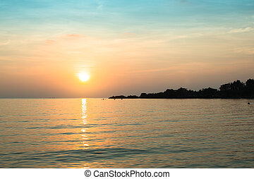 A beautiful sunset in the Gulf of Thailand.