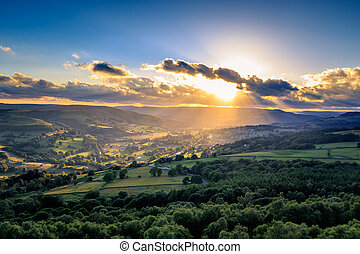 Peak District - A beautiful sunset on the Peak District