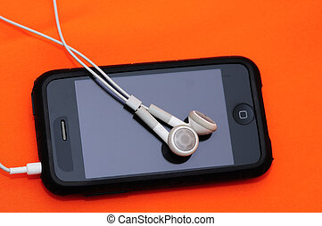 Mp3 player - A beautiful touchscreen Mp3 player isolated on ...