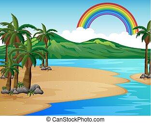 A Beautiful Tropical Island Scene