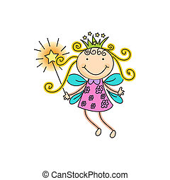 fairy - a beautiful vector illustration of a fairy with ...
