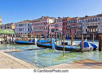 Venice - A beautiful view of a Grand Canal in Venice, Italy