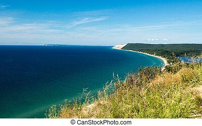 Sleeping Bear Dune National Seashore - A beautiful view of...