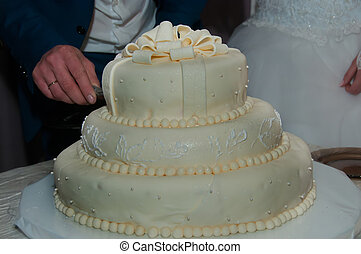 A beautiful wedding cake