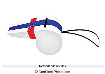 A Beautiful Whistle of The Netherlands Antilles - Six White ...