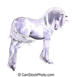 unicorn - a beautiful white unicorn - isolated on white