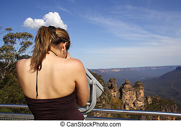 A beautiful woman at the lookoutlookout