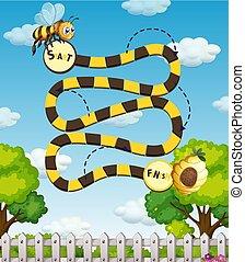 A bee maze game