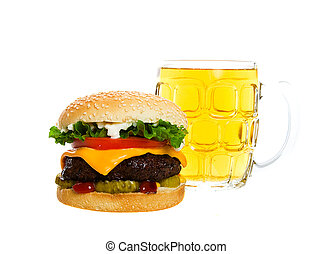A Beer and a Burger