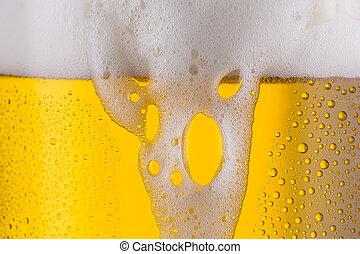 overflowing beer