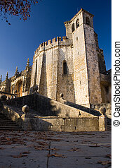 a bellow perspective of Tomar Monastery