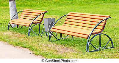 A bench in the park