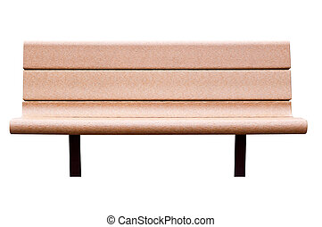 A bench. Isolated, with clipping path