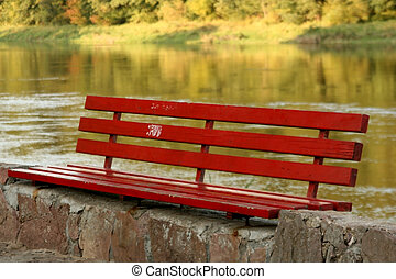 Bench near the River - A Bench near the River