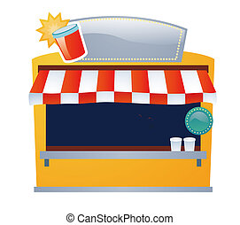 beverage store - a beverage store with banner isolate on a...