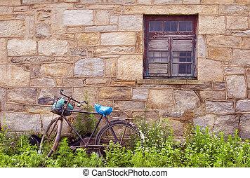 a, bicicleta velha