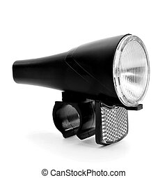 bicycle headlight - a bicycle headlight on a white...